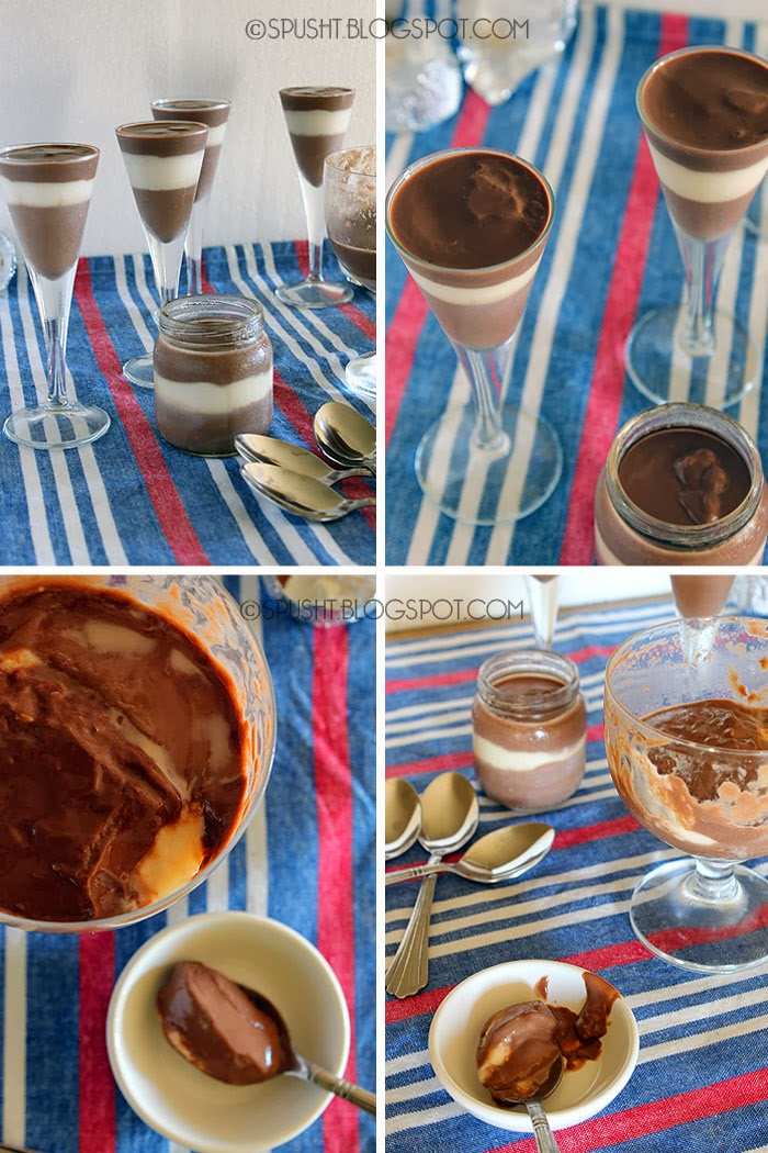 Spusht   Recipe for Chocolate and Vanilla Pudding Layers