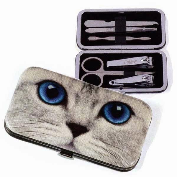 Jellycat Catseye Silver Kitty Nail Care Set