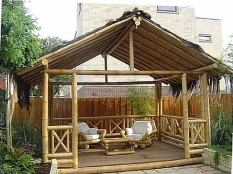 Gazebo bambu unik contoh foto gazebo bambu - Pergolas de bambu ...
