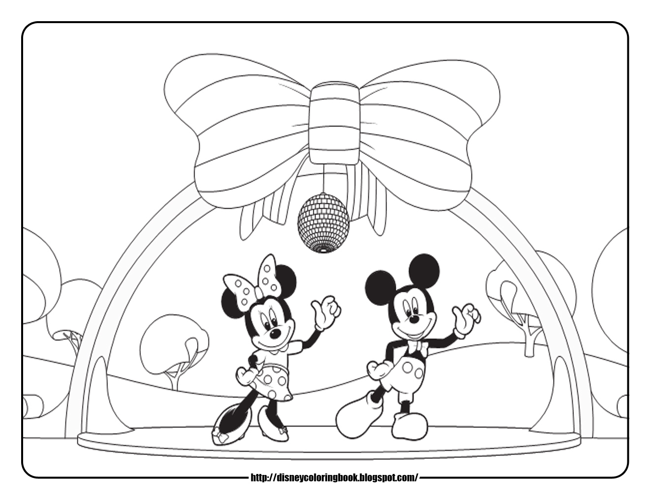 Baby Mickey Mouse Coloring Pages