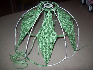 crochet an old light shade 7