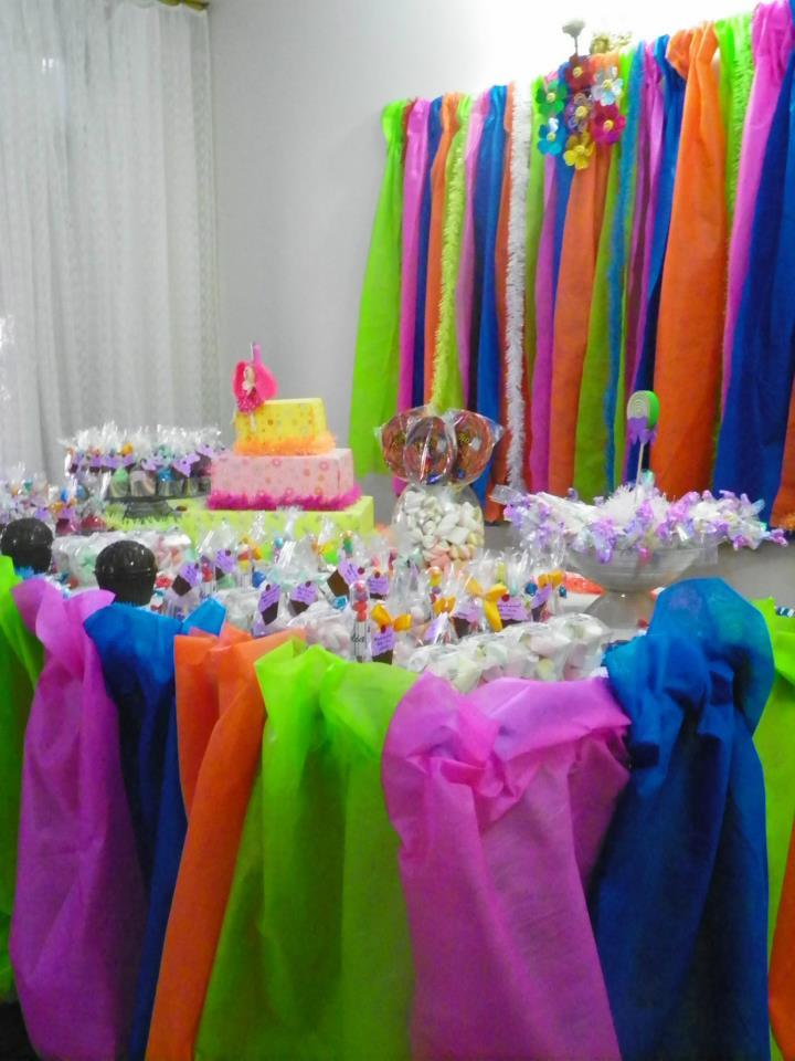 Cortina Em Tnt ~ Nova Borralheira Decoraç u00e3o totalmente colorida!
