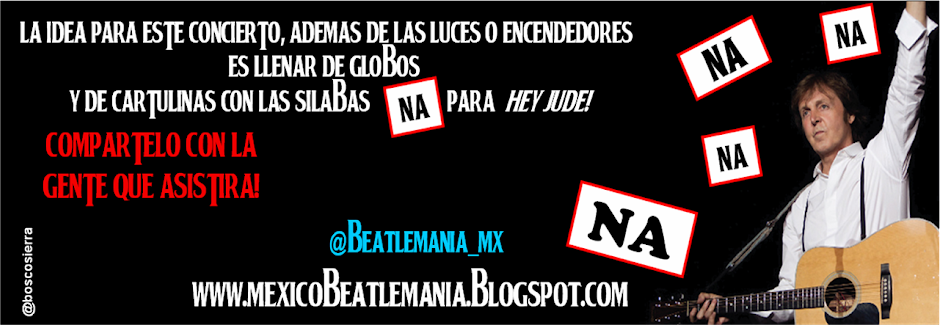 """The Beatles"" MEXICO Beatlemania Oficial"