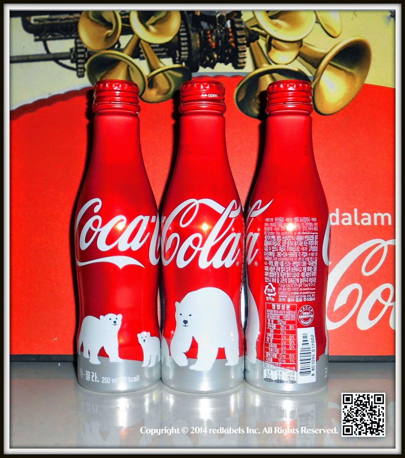 aluminum bottle collector club coca cola polar bears aluminum bottle limited edition korea 2014. Black Bedroom Furniture Sets. Home Design Ideas