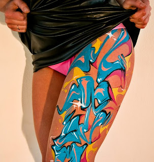 Body Paint Color at Thighs