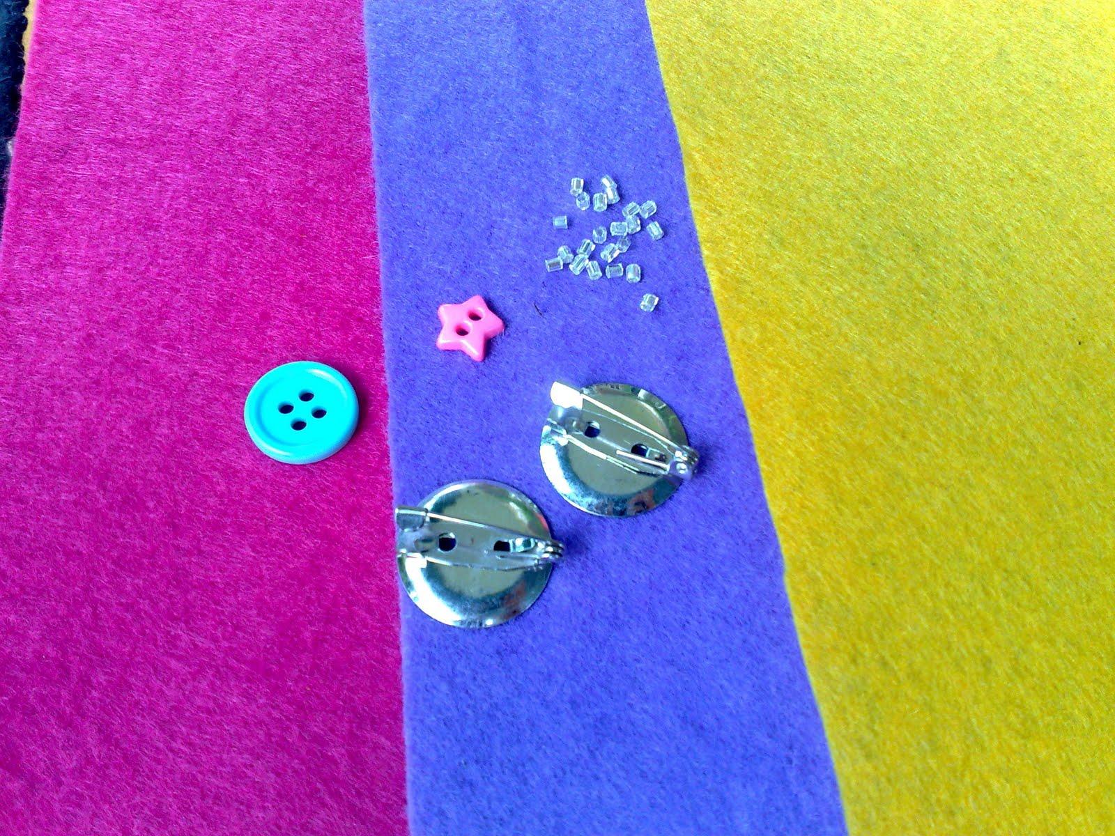 Pack B ni pulak ada kain felt warna hot pink, ungu, dan jingga, 2