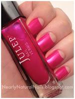 nail polish swatch, Zoya Joan, nude, sheer, Half Moon mani, Julep Sandra, 31 day nail challenge, half moons