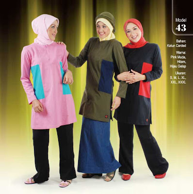 Qirani Collection Pink muda Hitam Hijau gelap