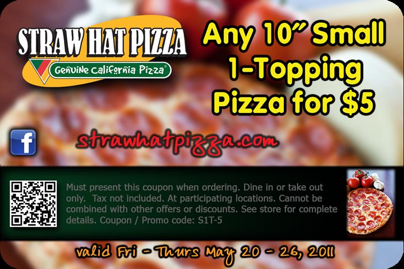 Straw Hat Pizza Coupons Pleasanton Ca Hoover Vacuum Manufacturer