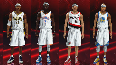 NBA 2K13 roster w/ updated color of sleeves, headbands, shoes, and other accessories
