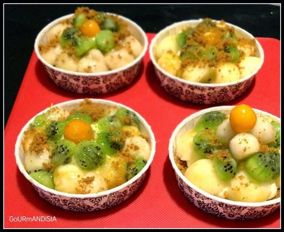image-Tartelettes aux billes de fruits sans cuisson