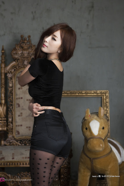 4 Minah in Black - very cute asian girl - girlcute4u.blogspot.com