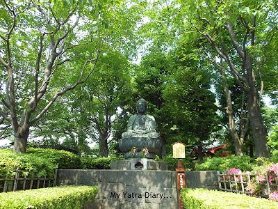 A statue of Buddha in the Sensoji Temple premises, Asakusa - Tokyo