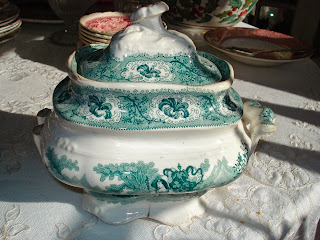 Transferware Sugar 1800's