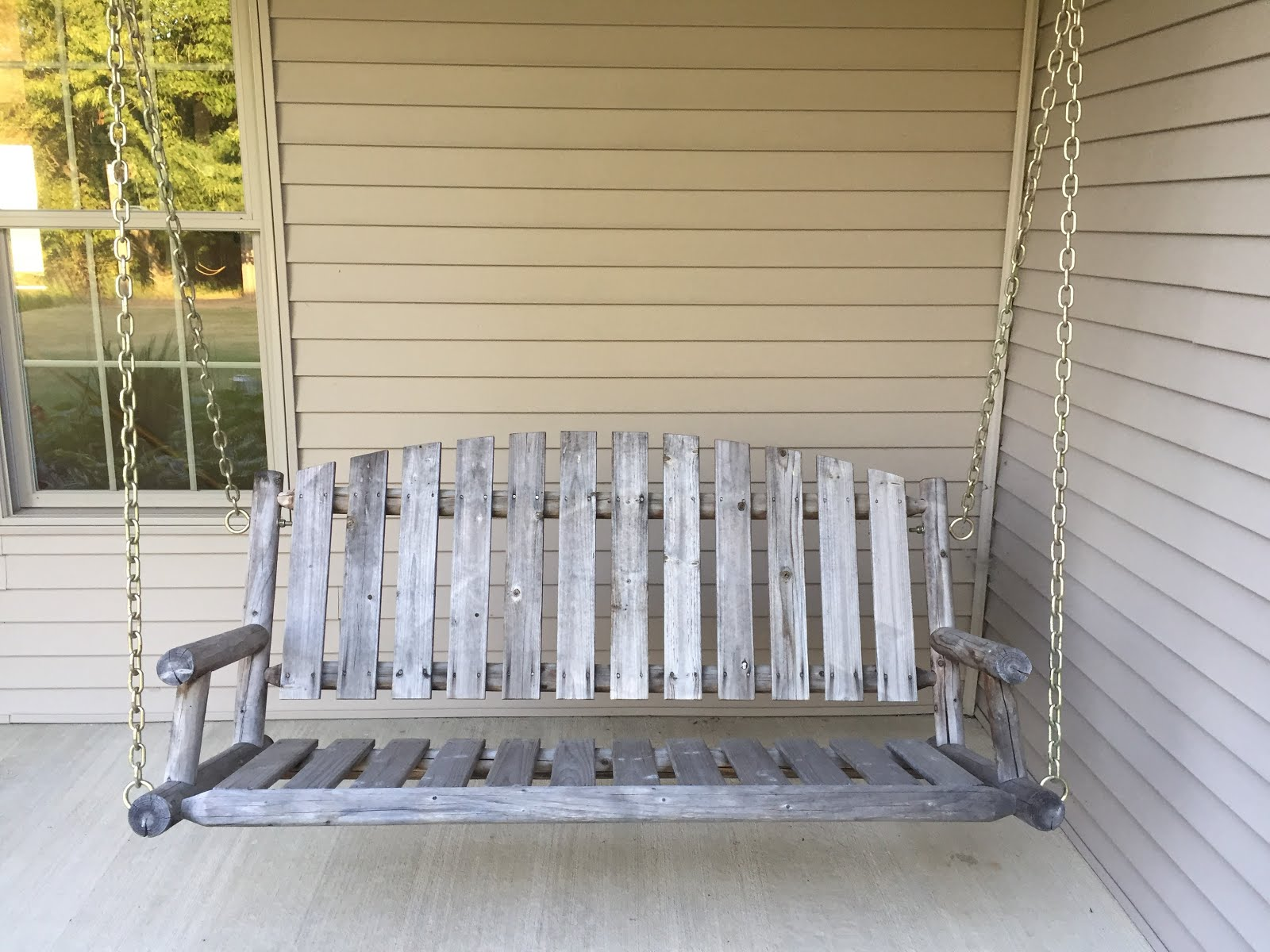 Diy Porch Swing Sometimes Serious Porch Swing Makeover A Diy By A Non Diyer