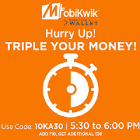Mobikwik App Add Rs.30 and Get Rs.10 Cashback in wallet, new app users