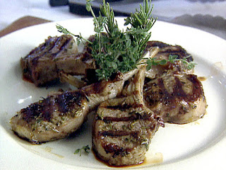Spiced Grilled Lamp Chops with Cilantro – Coconut Relish