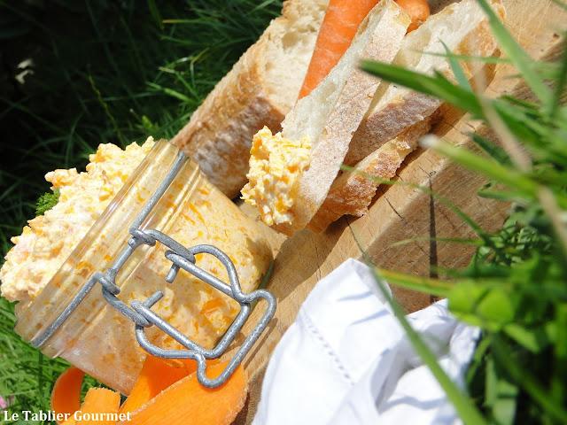 Une entrée ou un apéritif végétarienne avec ces rillettes de carottes