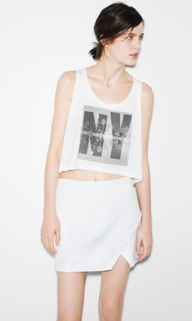Zara trf verano 2013 falda y camiseta