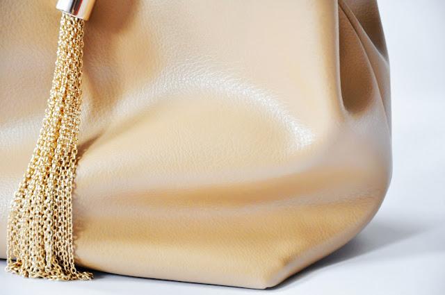 беж сумка Acasta из нат кожи