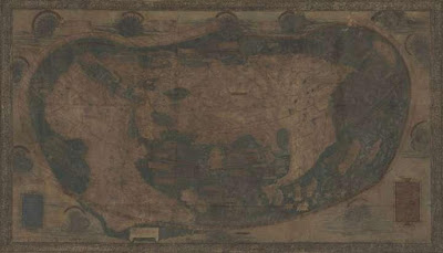Rahasia Tersembunyi ditemukan di Peta Columbus 1491