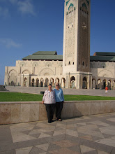 Mom and I at the mosque along the Atlantic Ocean