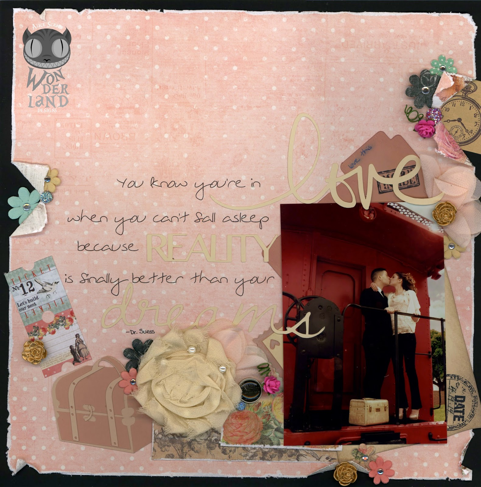 Better Than Your Dreams A Vintage Travel Themed Scrapbook Page