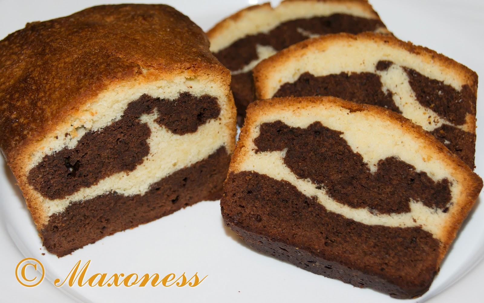 Мраморный кекс с какао от Пьера Эрме