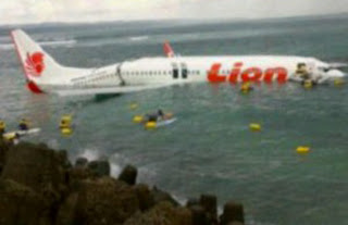 Pesawat Lion Air kecelakaan