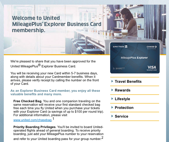 All the right points my latest round of credit card applications chase mileageplus explorer business card welcome email colourmoves