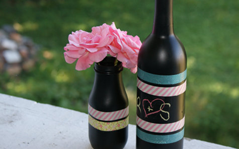 Diy Chalkboard Paint And Washi Tape Vase Craft Project Soap Deli News