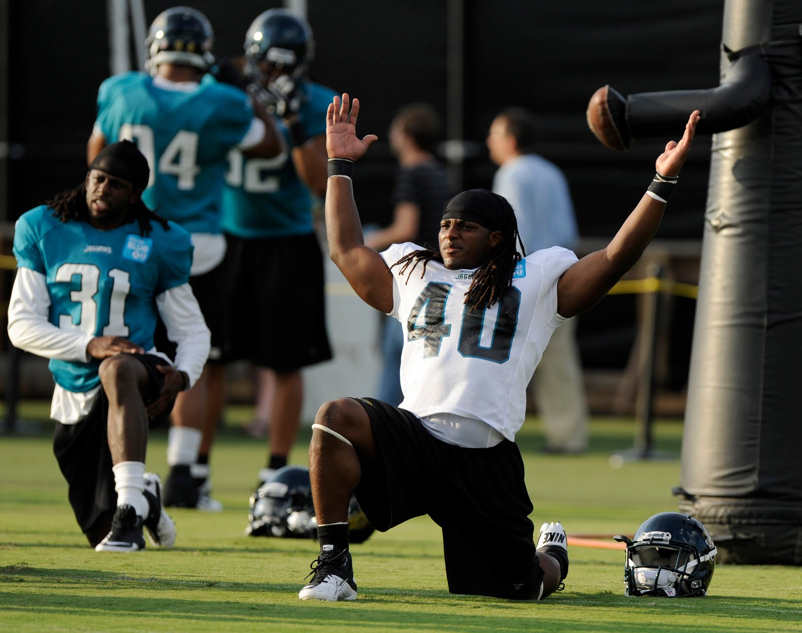 DuJuan Harris at Jaguars camp.
