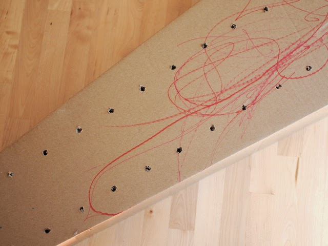 Drill holes to make your own cardboard runway