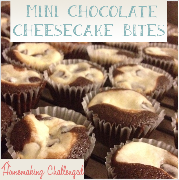 Mini Chocolate Cheesecake Bites