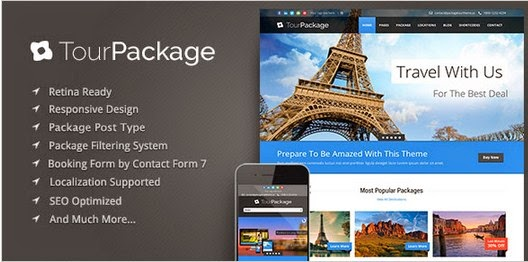 Tour Package v1.02 - Responsive Wordpress Theme  free download