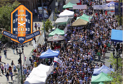Don't Miss The 8th Annual East Village Opening Weekend Block Party - March 30 & 31!