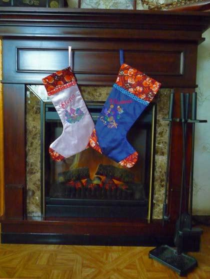 Decoraciones navide as medias para la chimenea decoraci n for Decoraciones para el hogar catalogo