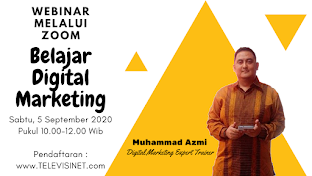 PENDAFTARAN WEBINAR BELAJAR DIGITAL MARKETING, KLIK GAMBAR