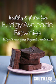 Healthy Avocado Fudge Brownies - gluten free, flourless, low fat, lower sugar, healthy brownie recipe