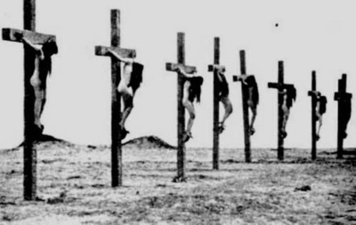A Row of the Crucified Slaves
