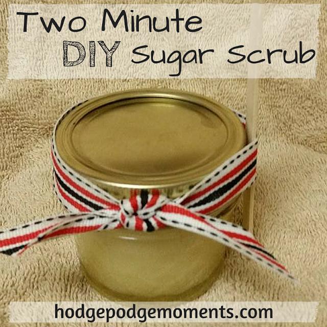 Two Minute DIY Sugar Scrub