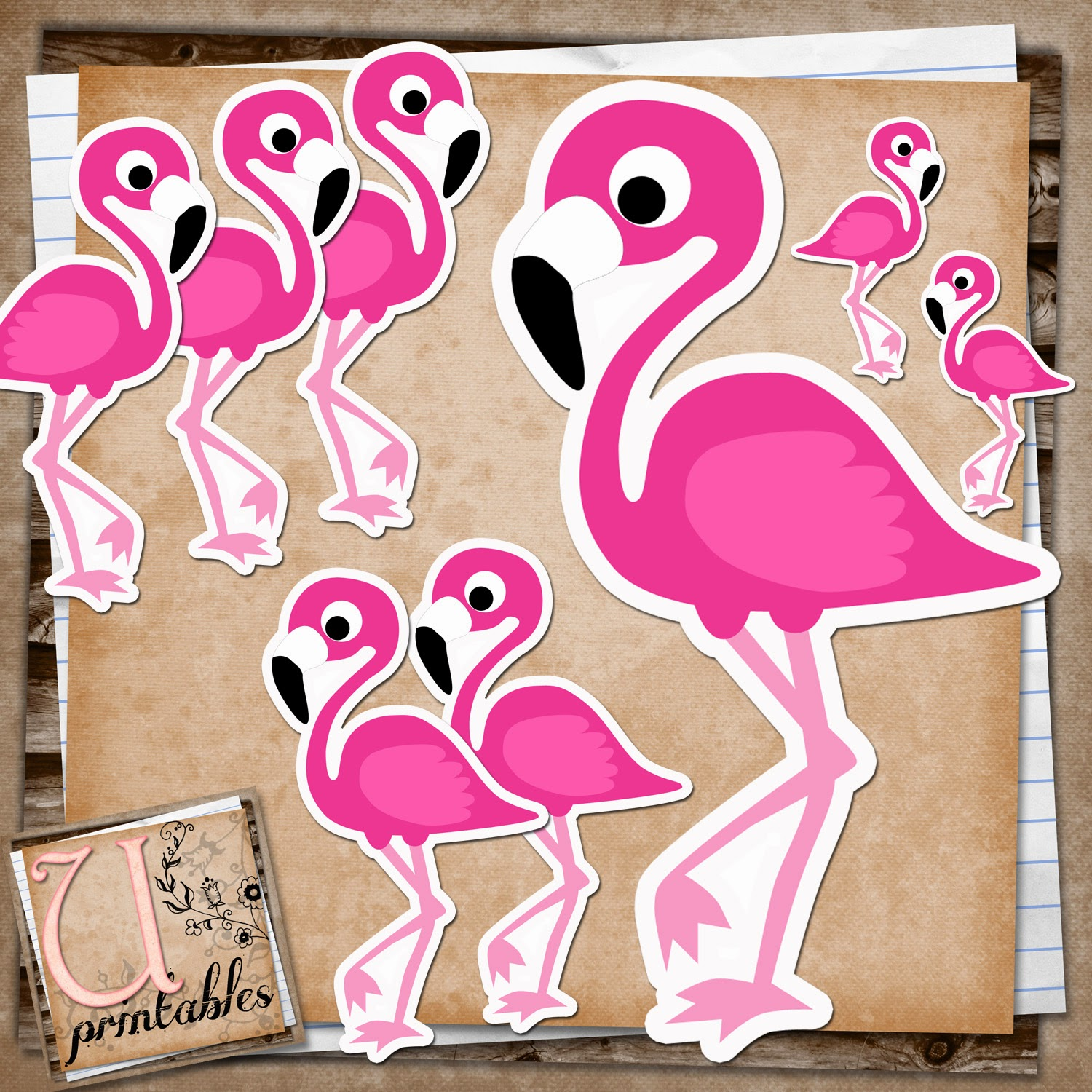Classroom Decor Templates ~ Rebeccab designs free printable flamingo print and cut