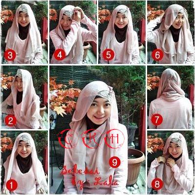 Cara Memakai Hijab Segitiga