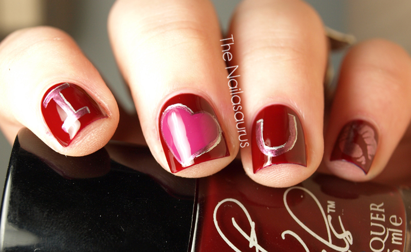 valentine's day nail designs for short nails