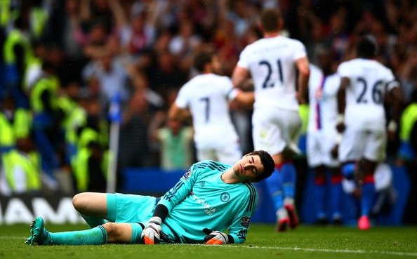 Courtois moment Liga Inggris poto via Premier League