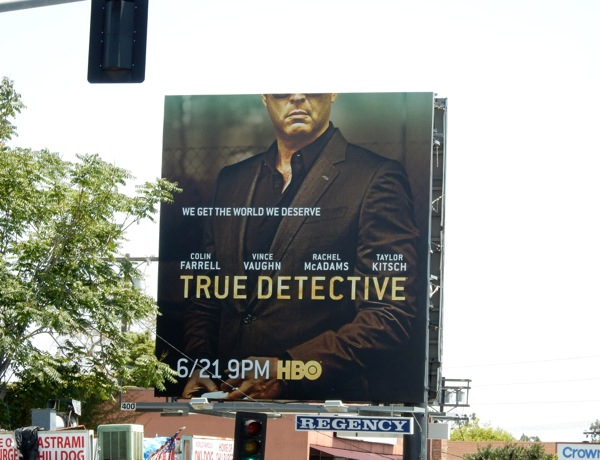 True Detective season 2 Vince Vaughn billboard