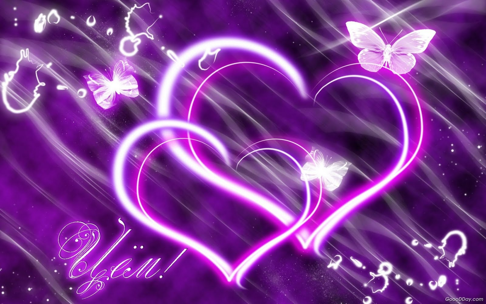 wallpaper purple hearts wallpapers - photo #14