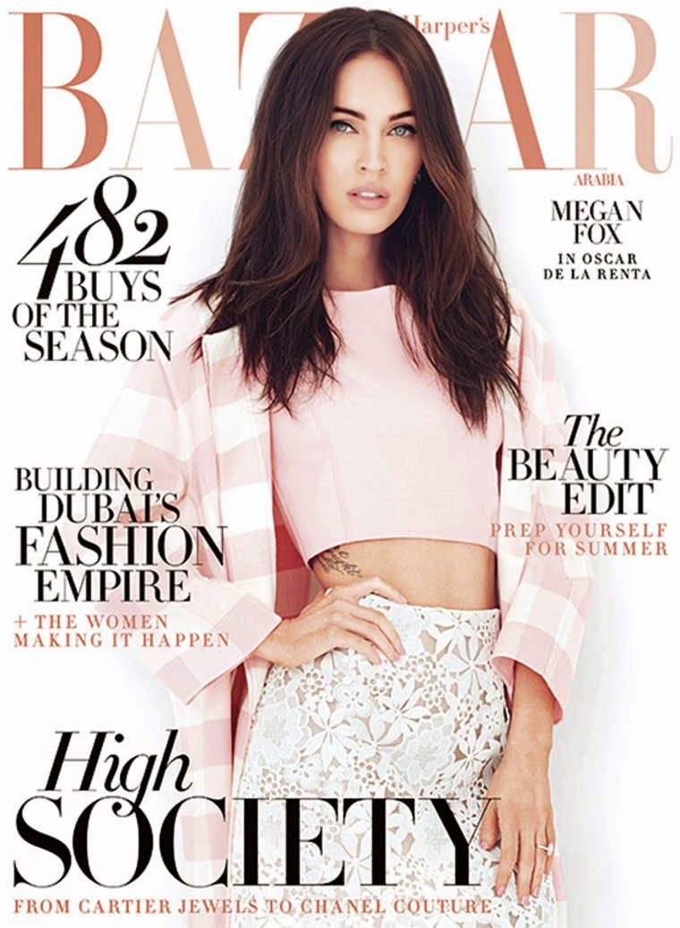Actress, model @ Megan Fox - Harper's Bazaar Arabia, April 2015