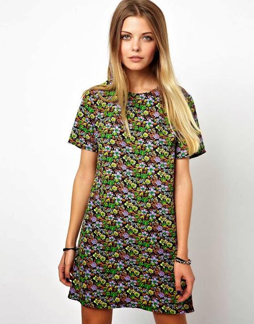 vintage ditsy dress