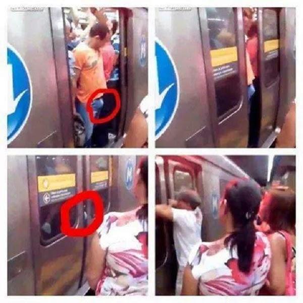 Las puertas del metro son peligrosas